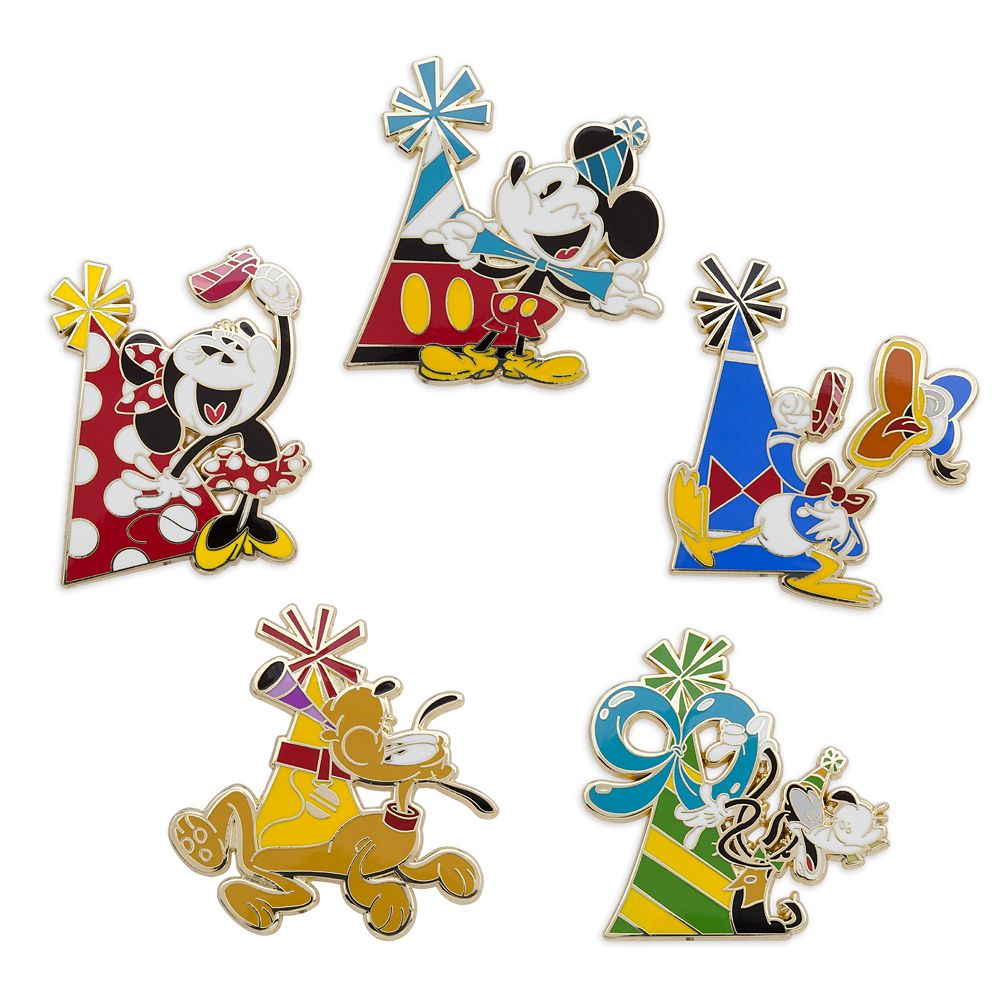 Mickey Mouse and Friends Celebrate Mickey Pin Trading Booster Set Official shopDisney