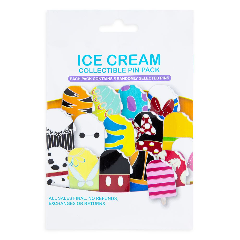 Disney Ice Cream Collectible Pin Pack