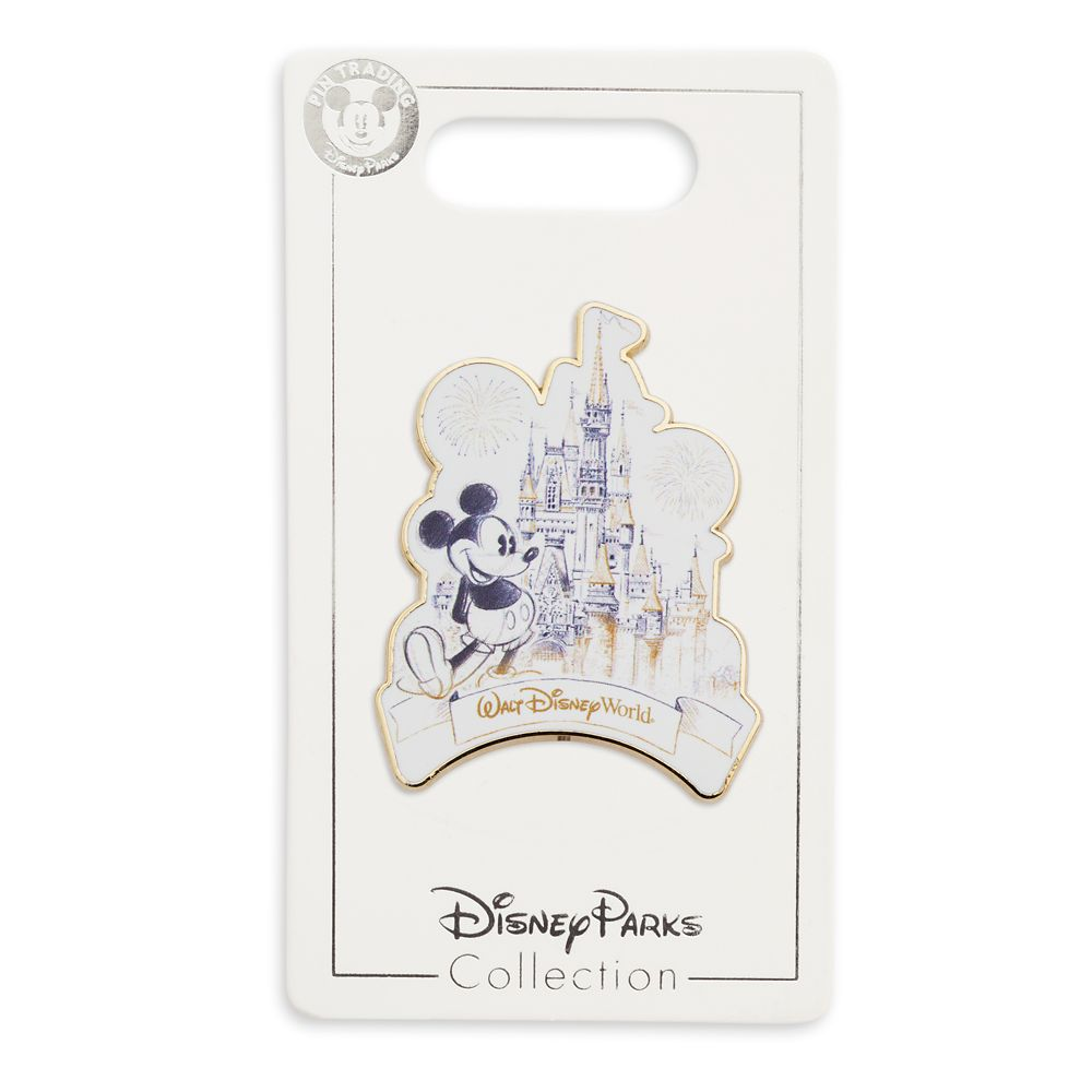 Mickey Mouse and Cinderella Castle Pin