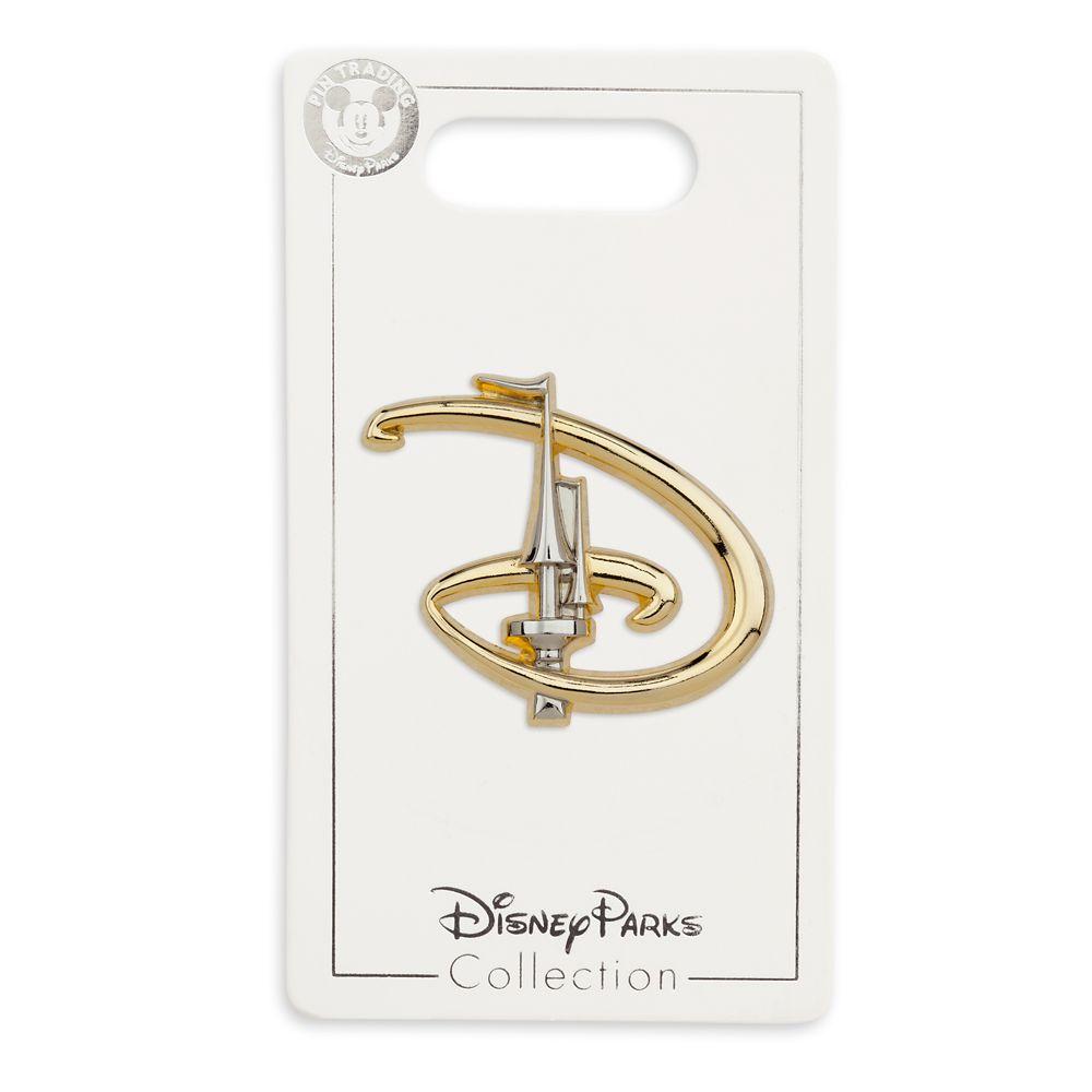 Walt Disney World ''D'' with Cinderella Castle Pin