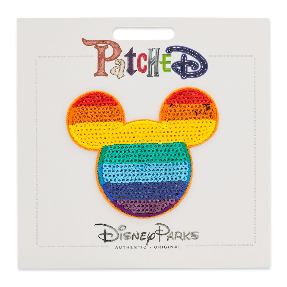 Mickey Mouse Rainbow Patched