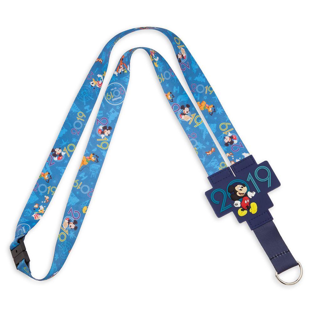 Mickey Mouse and Friends Reversible Lanyard  Disneyland Resort 2019
