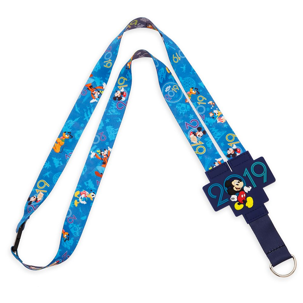 Mickey Mouse and Friends Reversible Lanyard  Walt Disney World 2019