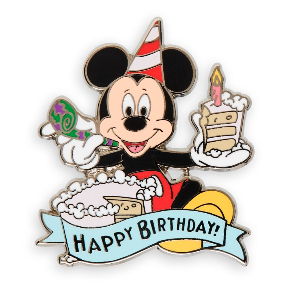 Mickey Mouse Happy Birthday Pin