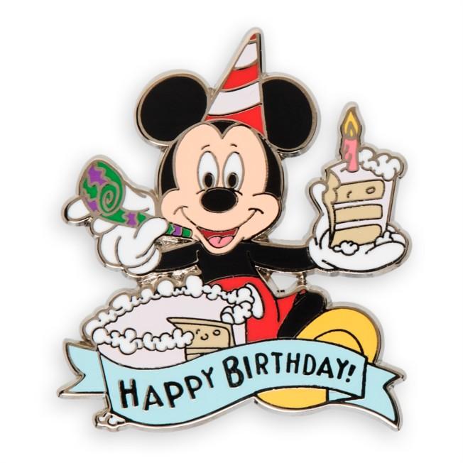 Mickey Mouse Happy Birthday Pin