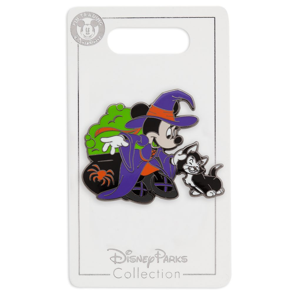 Minnie Mouse and Figaro Halloween Pin