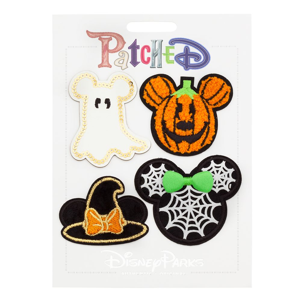 Mickey and Minnie Mouse Halloween Patched Set