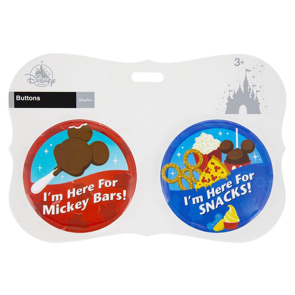 Disney Parks ''I'm Here for ...'' Food Button Set