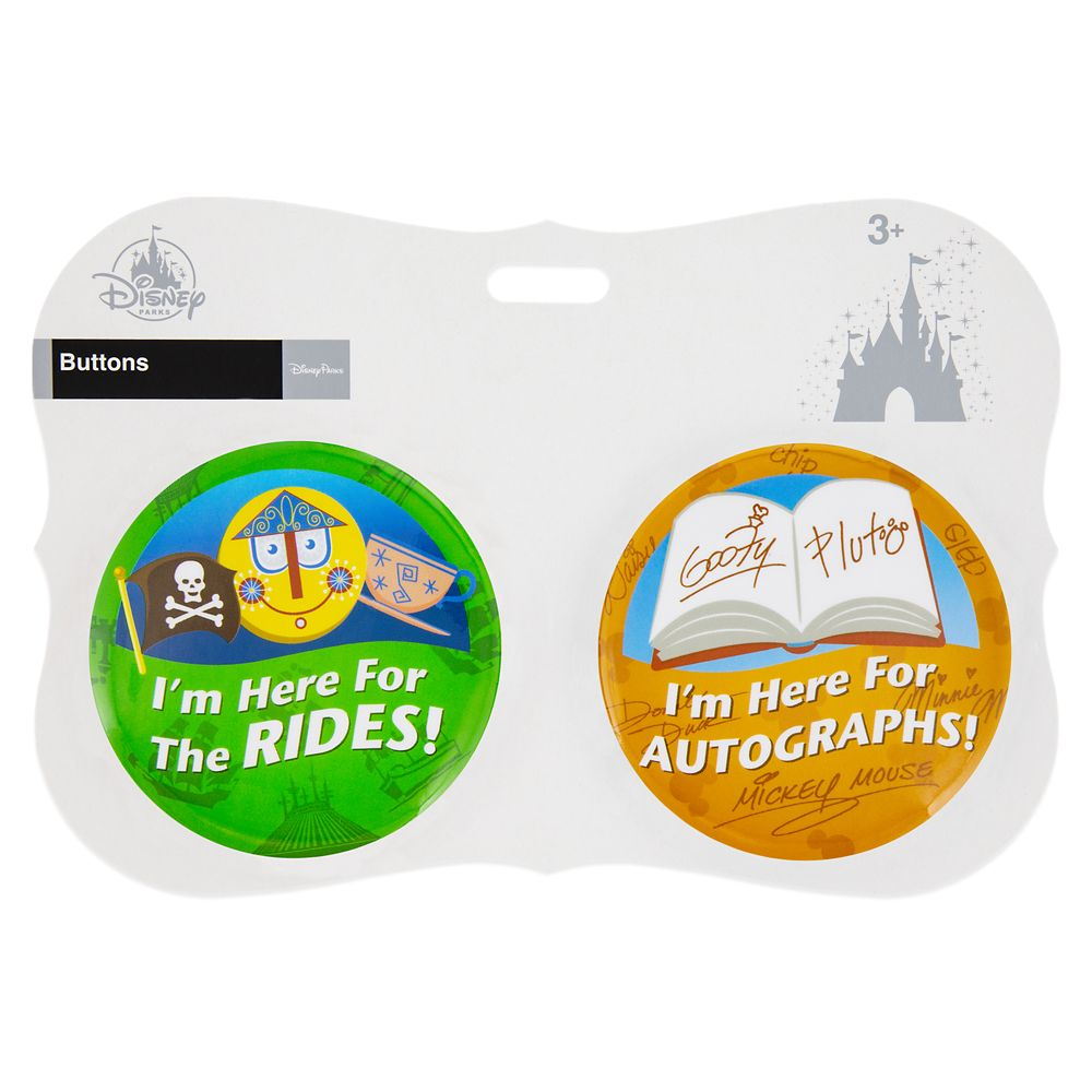 Disney Parks ''I'm Here for ... Rides'' Button Set