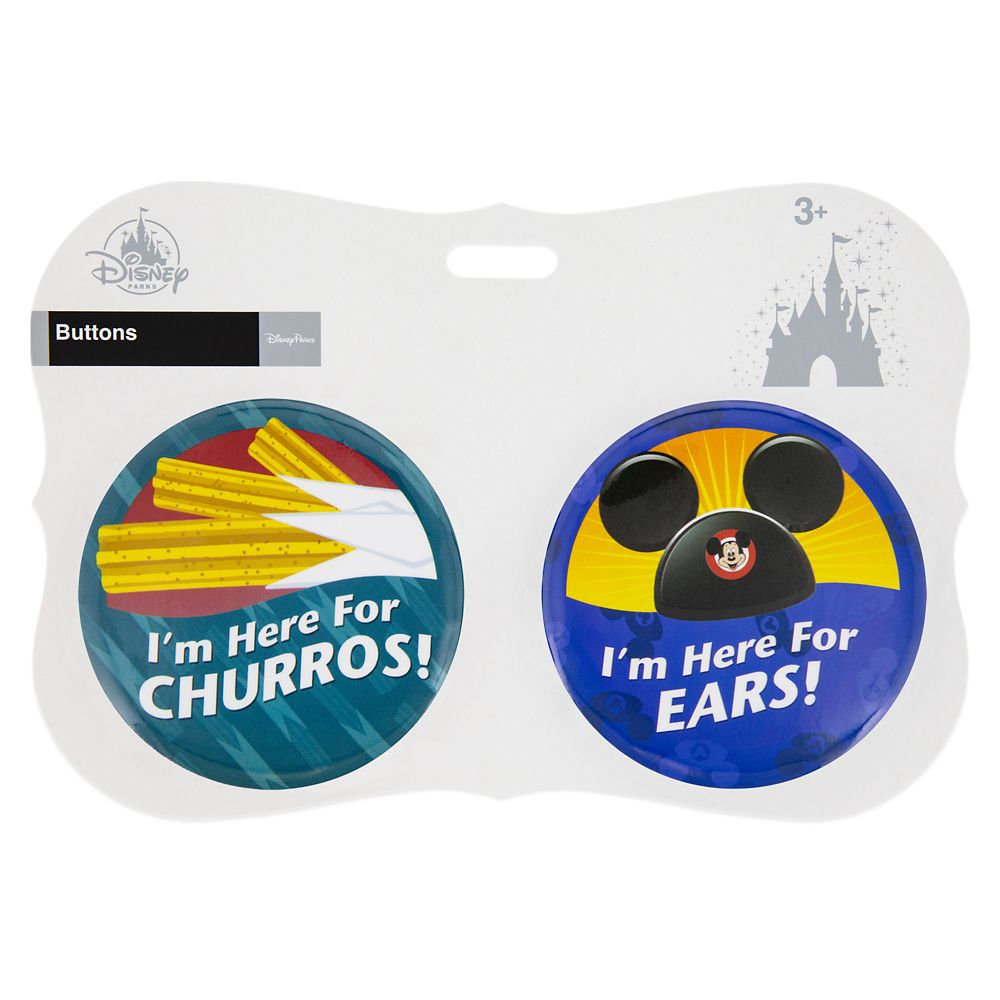 Disney Parks ''I'm Here for ... Ears!'' Button Set