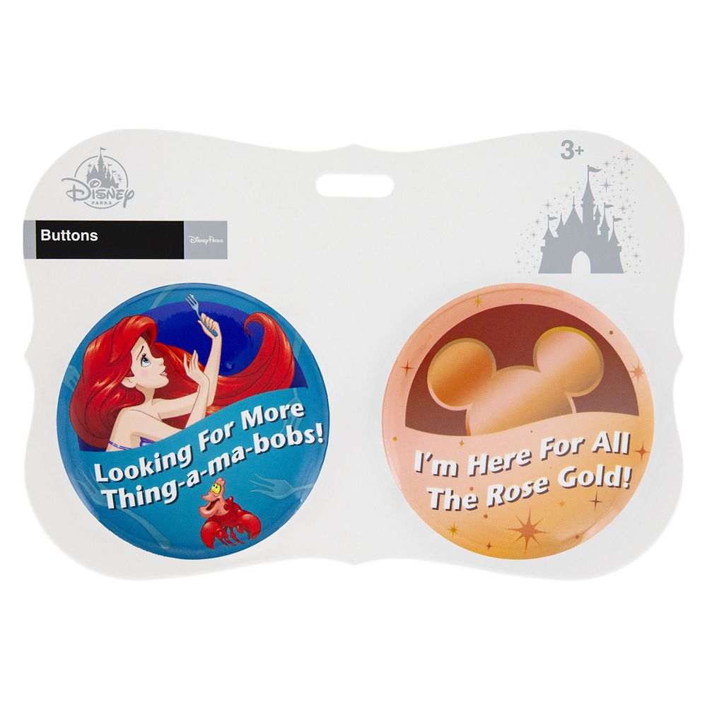 Disney Parks ''I'm Here for ... Thing-a-ma-bobs!'' Button Set