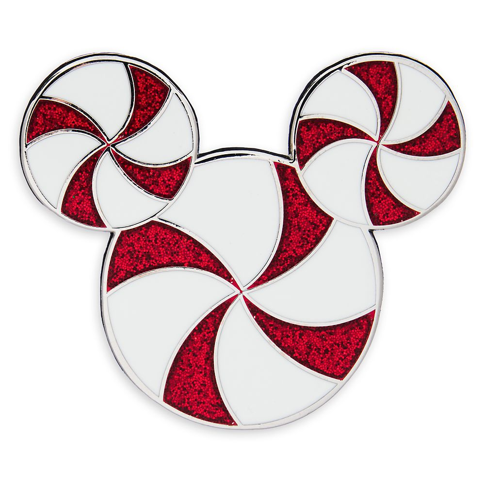 Mickey Mouse Icon Peppermint Holiday Pin