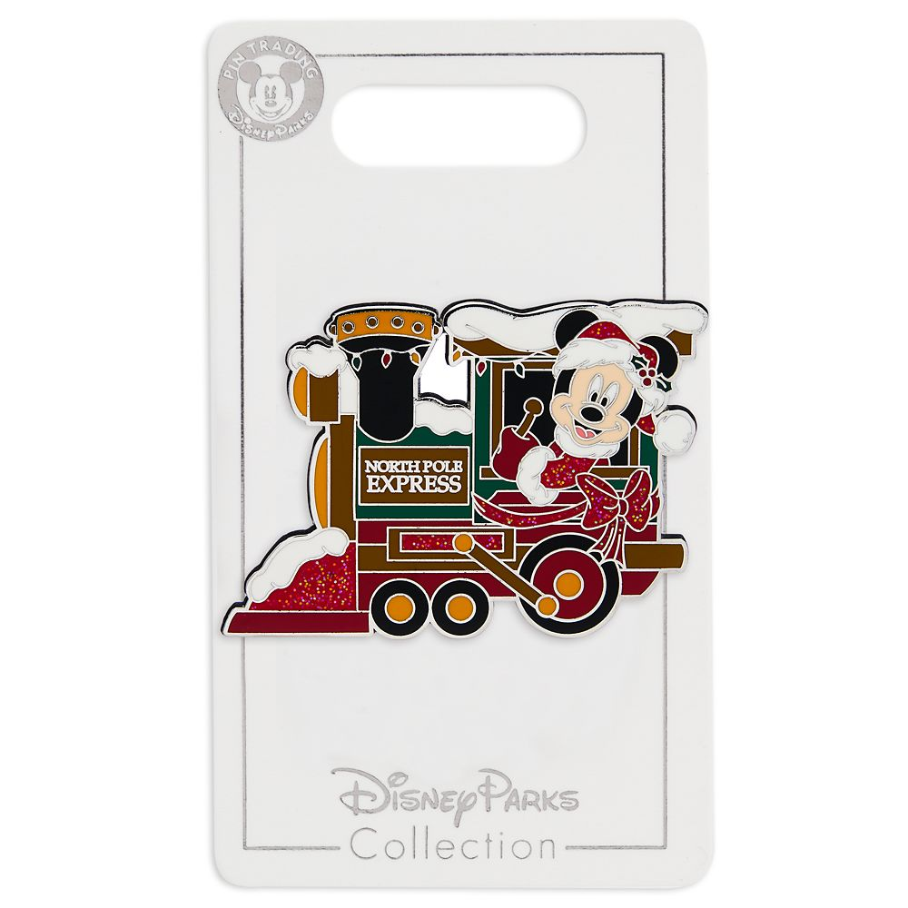 Santa Mickey Mouse Train Locomotive Pin