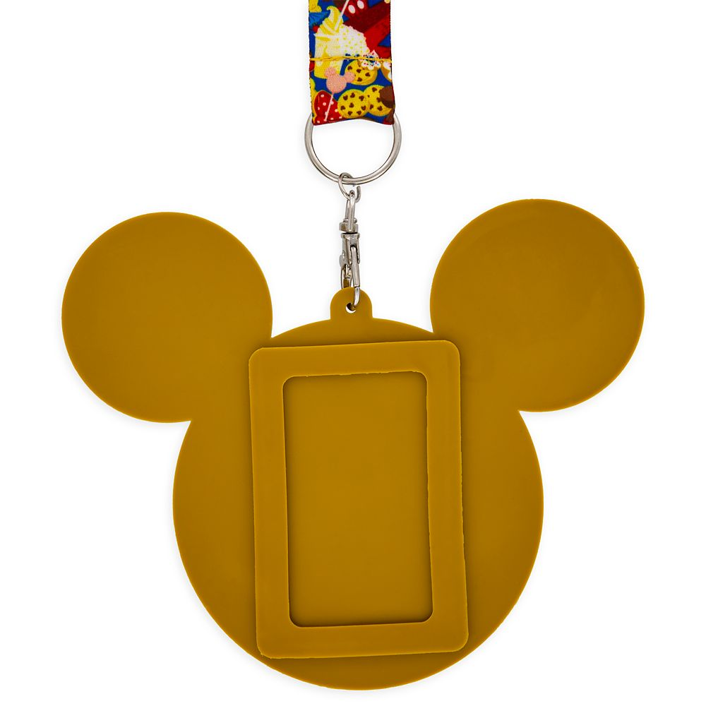 Mickey Mouse Donut ID Holder and Lanyard