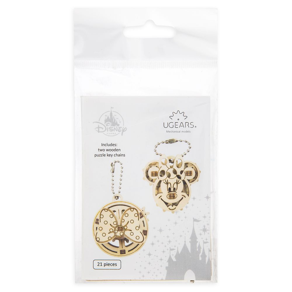 Minnie Mouse Wooden Puzzle Keychain Set by UGears