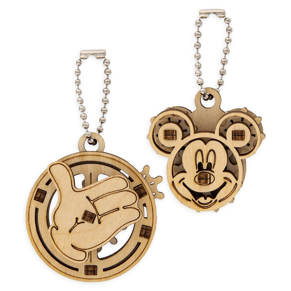 Mickey Mouse Wooden Puzzle Keychain Set by UGears