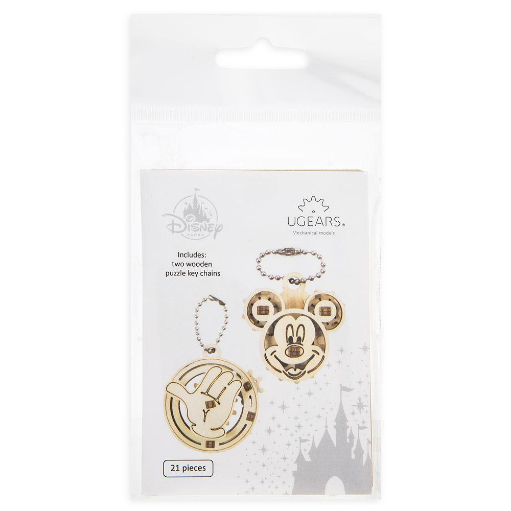 Details about  /Disney Park UGears Mechanical Models Minnie Mouse 2 Wooden Puzzle Keychains New