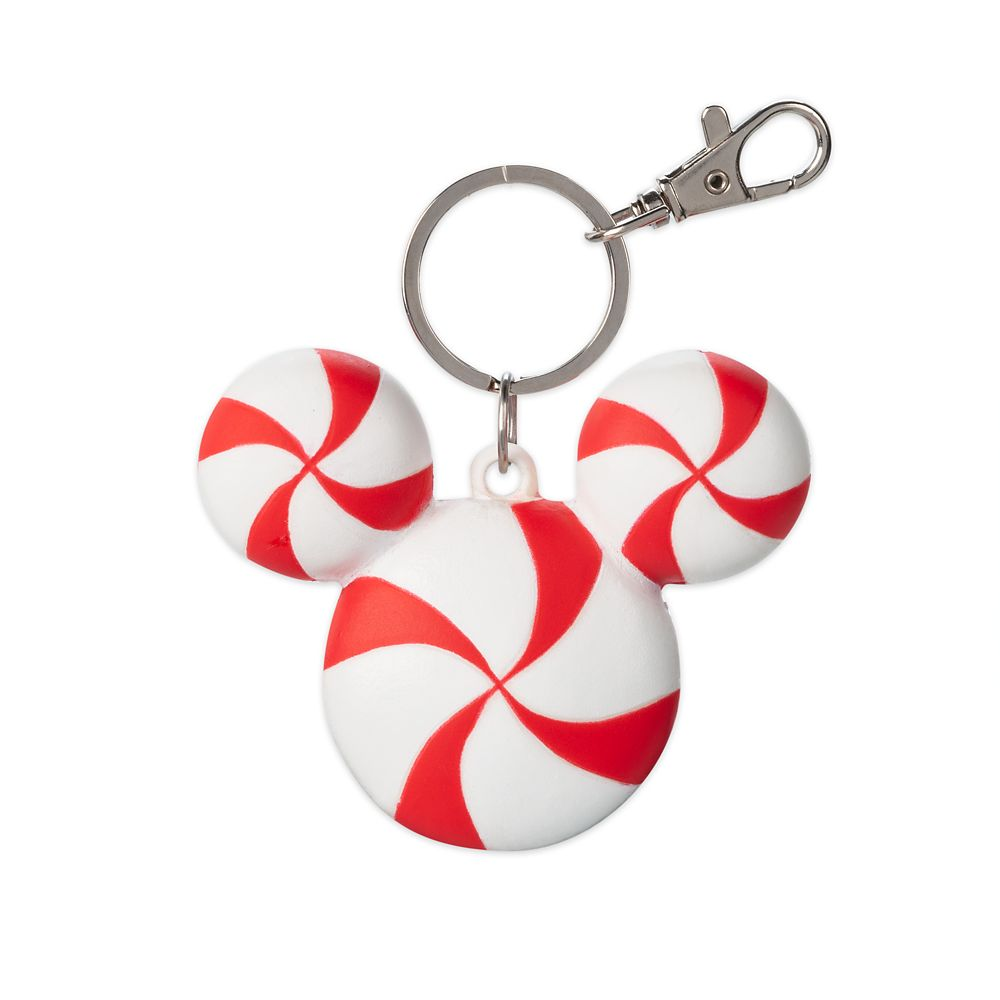 Mickey Mouse Icon Peppermint Holiday Keychain