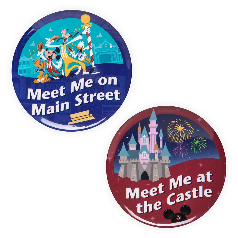 Disney Parks Button Set – Main Street U.S.A/Fantasyland Castle