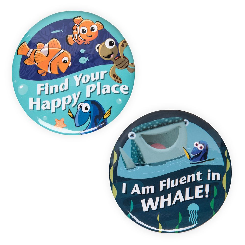 Disney Parks Button Set – Finding Nemo/Finding Dory