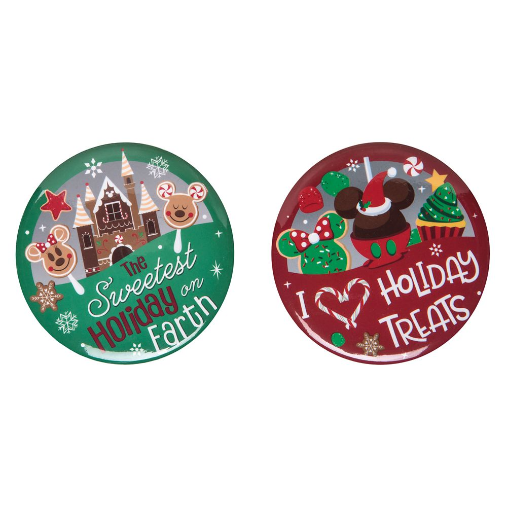 Disney Parks Button Set – Holiday Treats