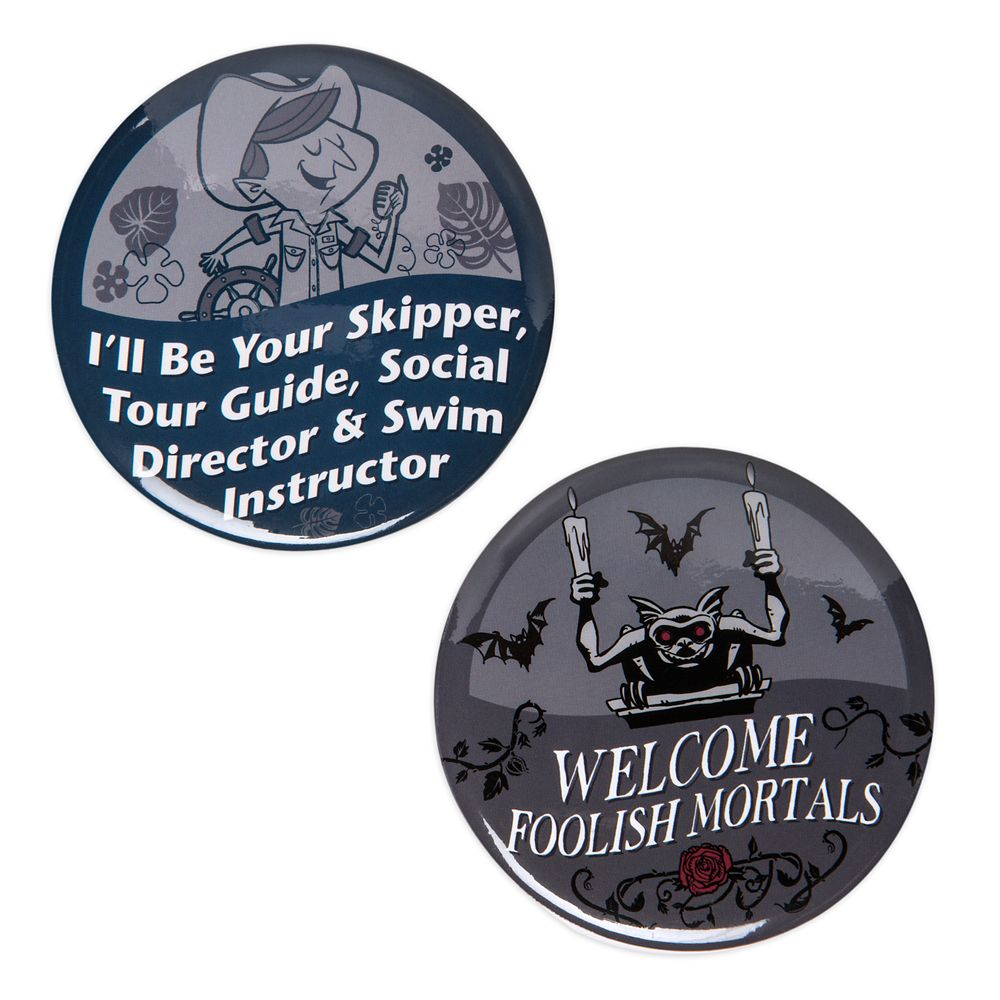 Disney Parks Button Set – Jungle Cruise/The Haunted Mansion