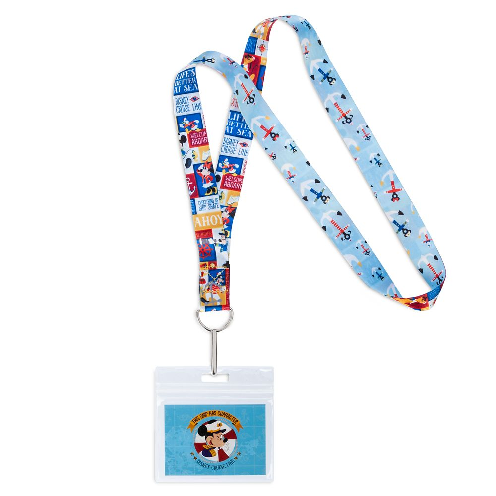 Mickey Mouse and Friends Lanyard  Disney Cruise Line