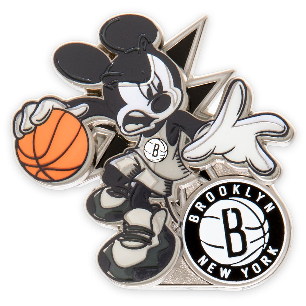 Mickey Mouse NBA Experience Pin – Brooklyn Nets