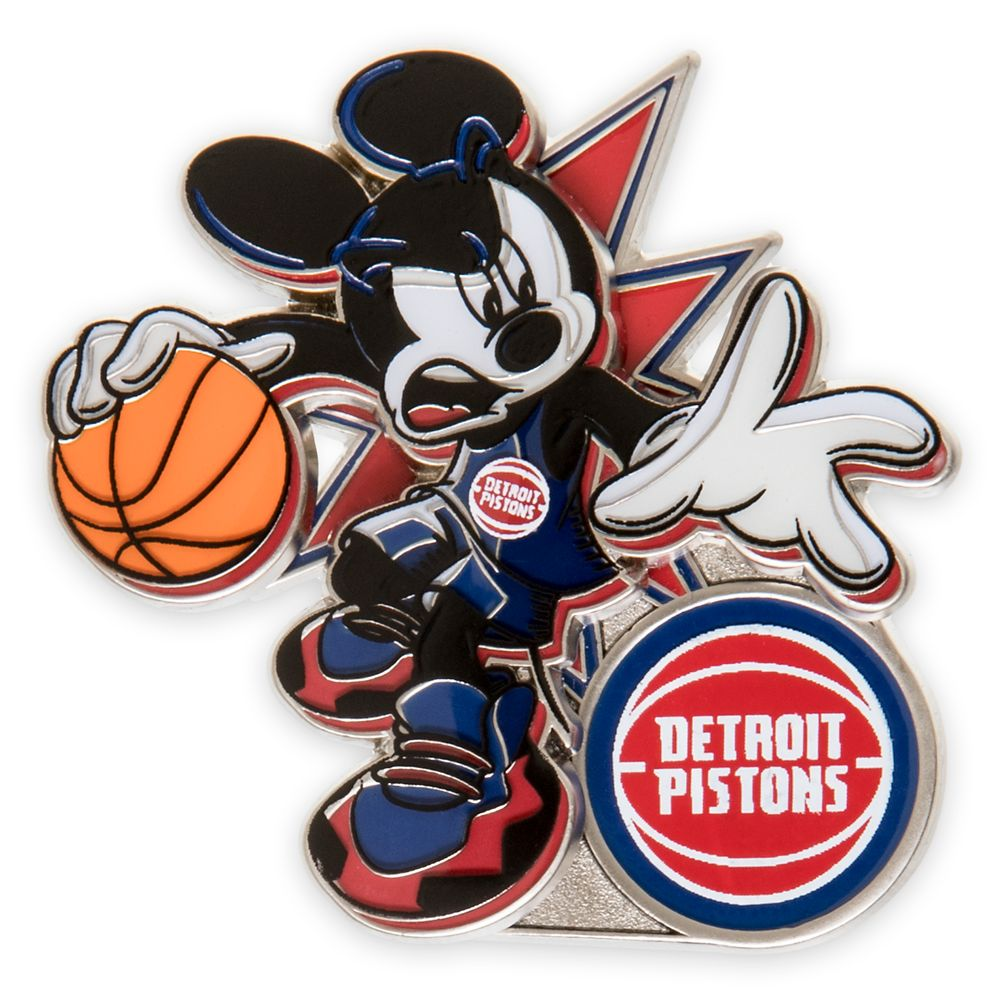 Mickey Mouse NBA Experience Pin – Detroit Pistons