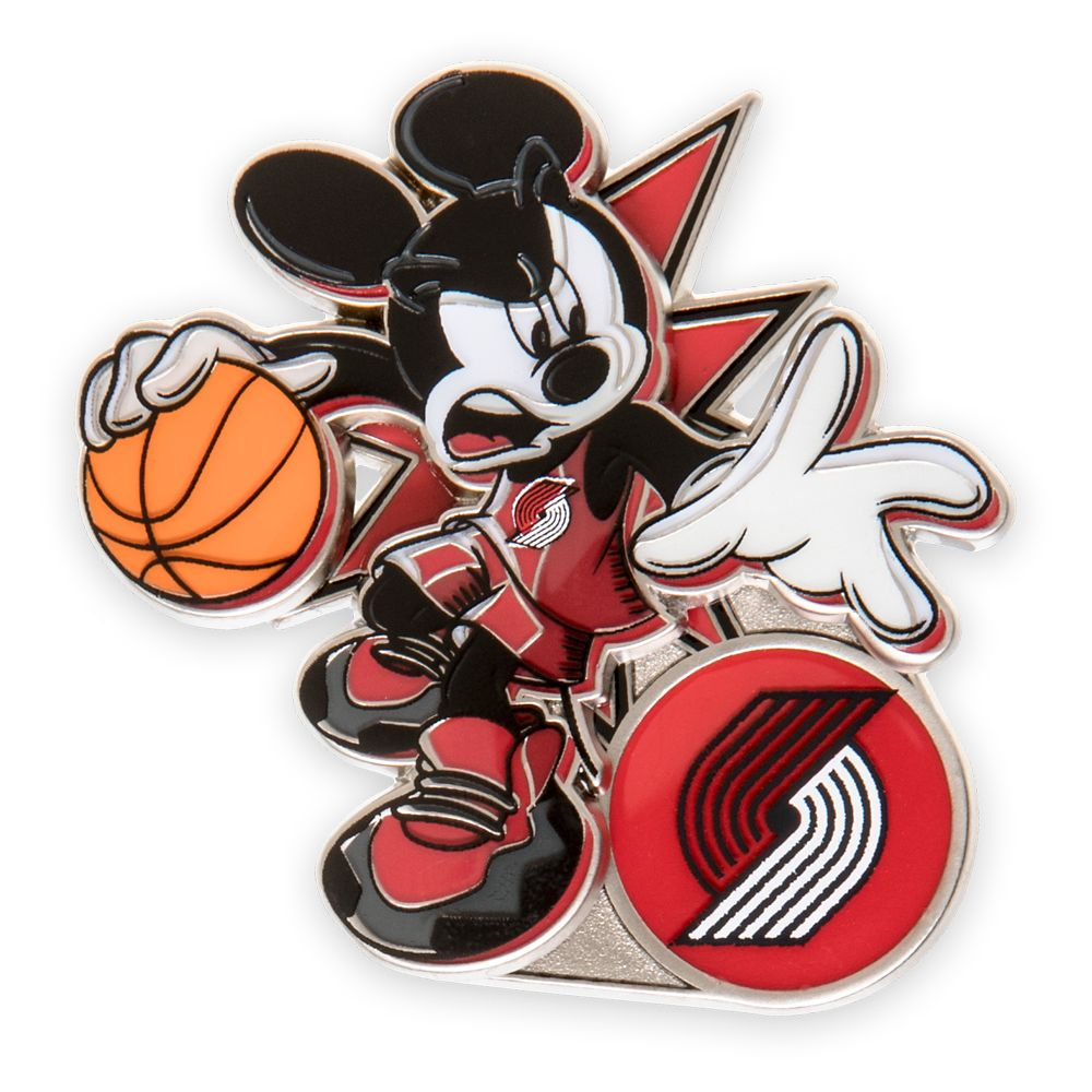 Mickey Mouse NBA Experience Pin – Portland Trail Blazers