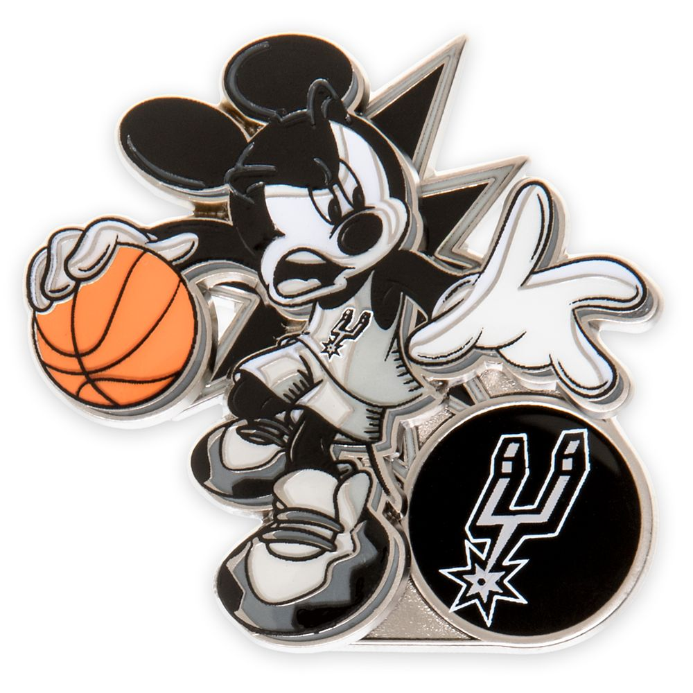 Mickey Mouse NBA Experience Pin – San Antonio Spurs