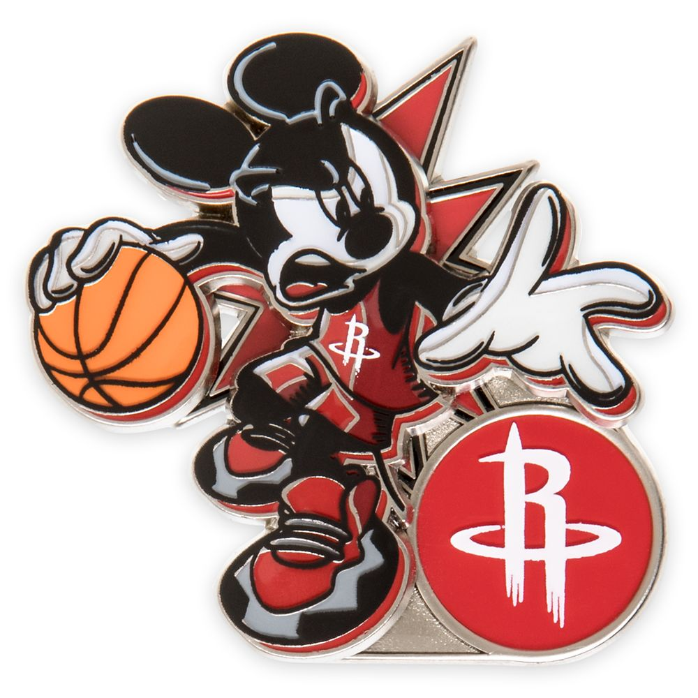 Mickey Mouse NBA Experience Pin – Houston Rockets