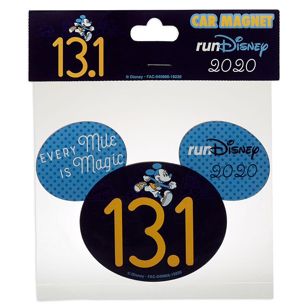 Mickey Mouse runDisney 2020 Magnet – 13.1