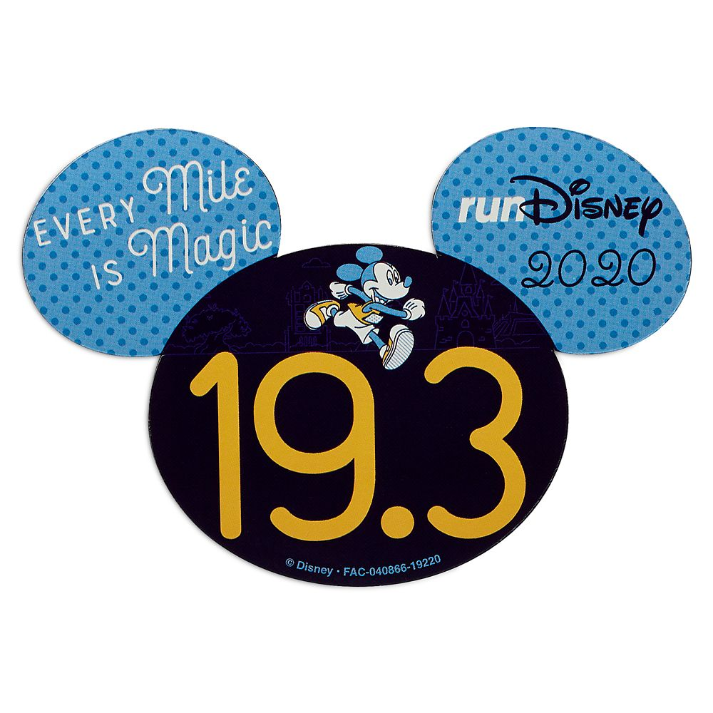 Mickey Mouse runDisney 2020 Magnet – 19.3