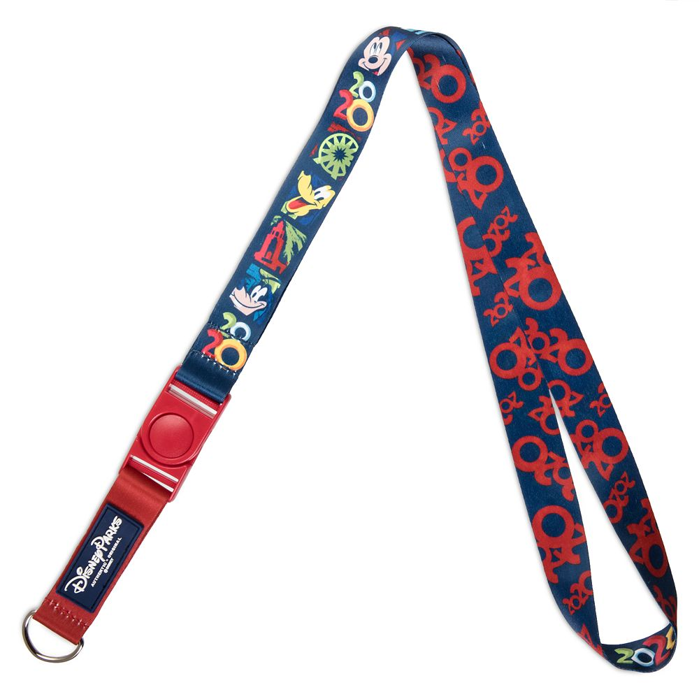 Mickey Mouse and Friends Pin Lanyard – Disneyland 2020