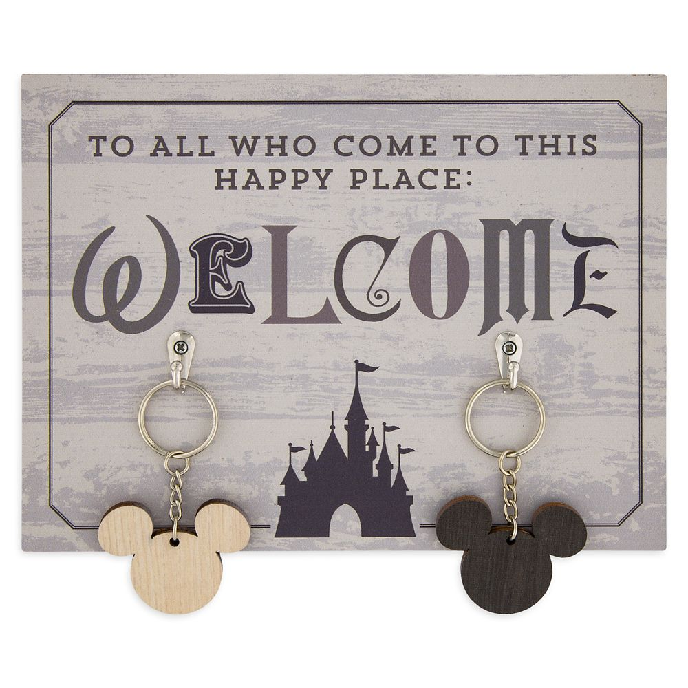 Disney Parks ''Welcome'' Key Holder and Keychains Set