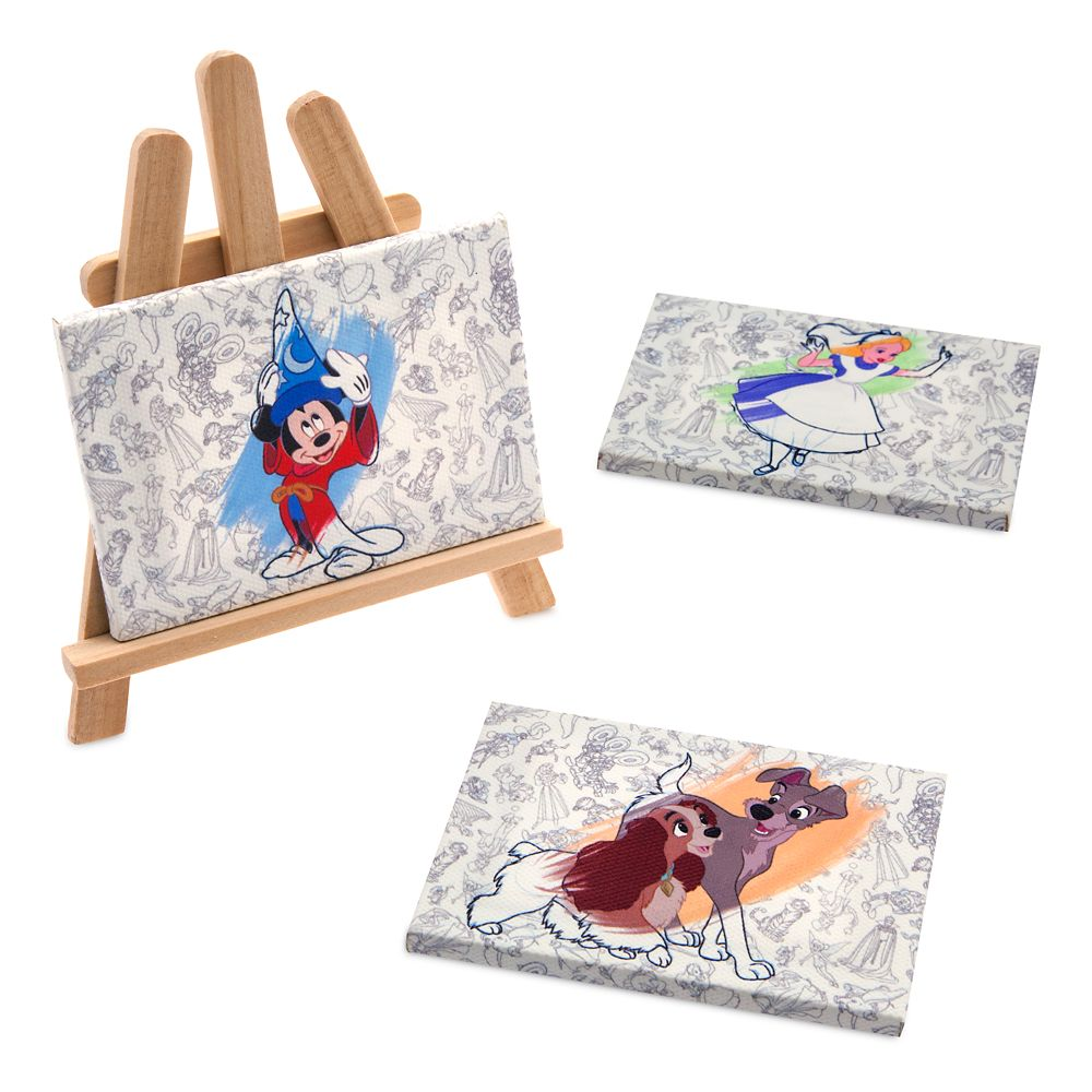 Disney Ink & Paint Canvas Magnetic Set with Display Easel