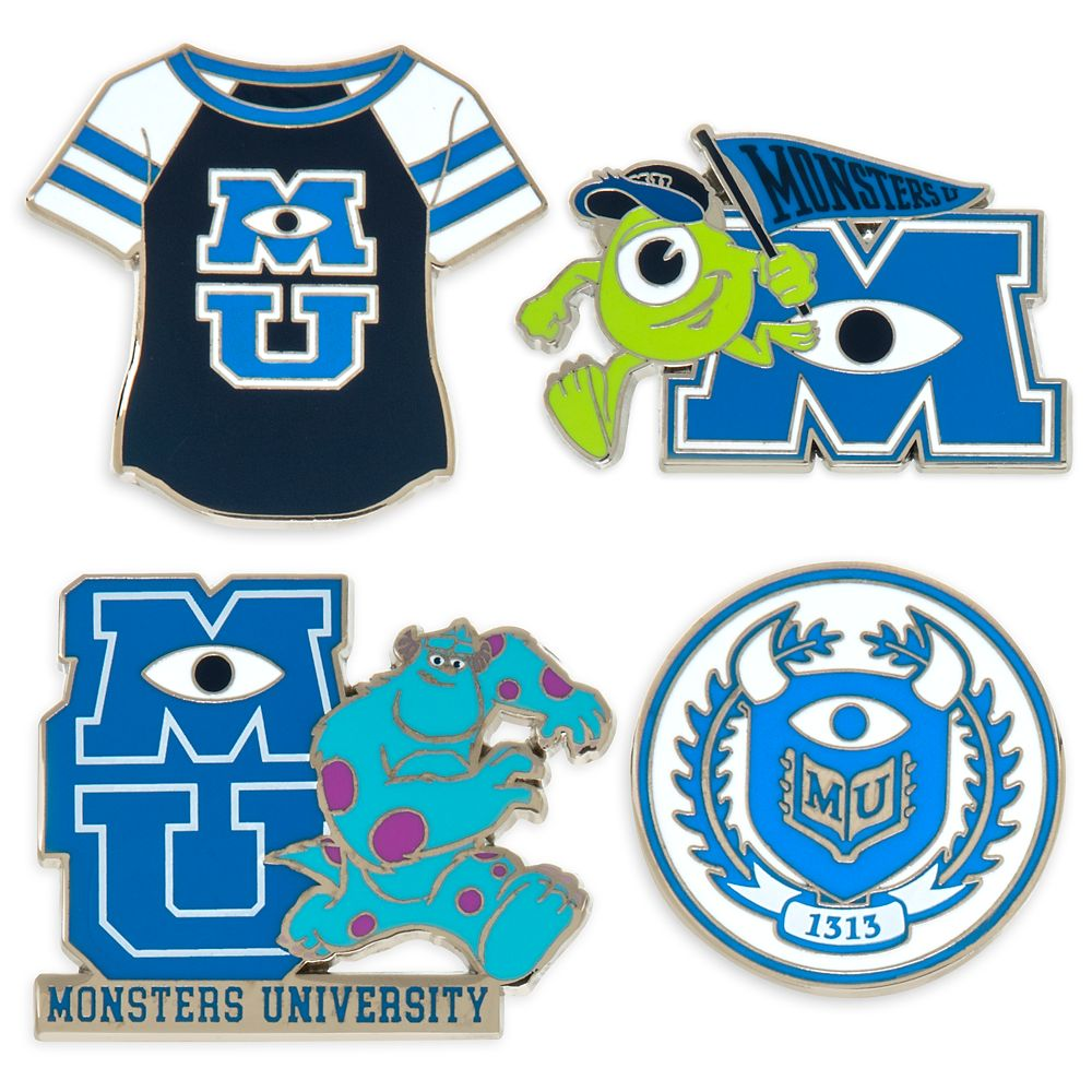 Monsters University Insignia Pin Set