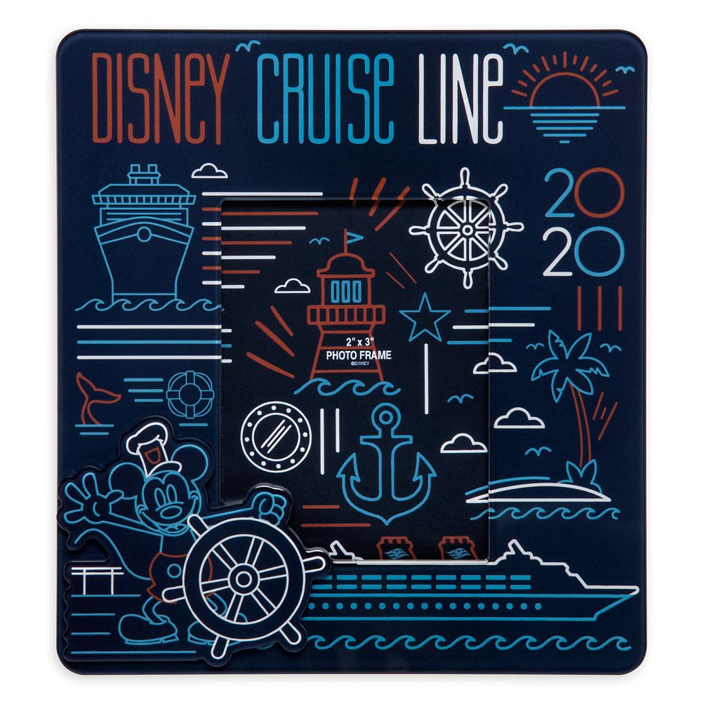 Disney Cruise Line 2020 Photo Frame Magnet  2 1/2'' x 3 1/4''