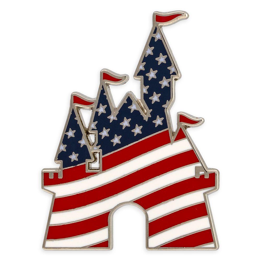 Fantasyland Castle Americana Pin