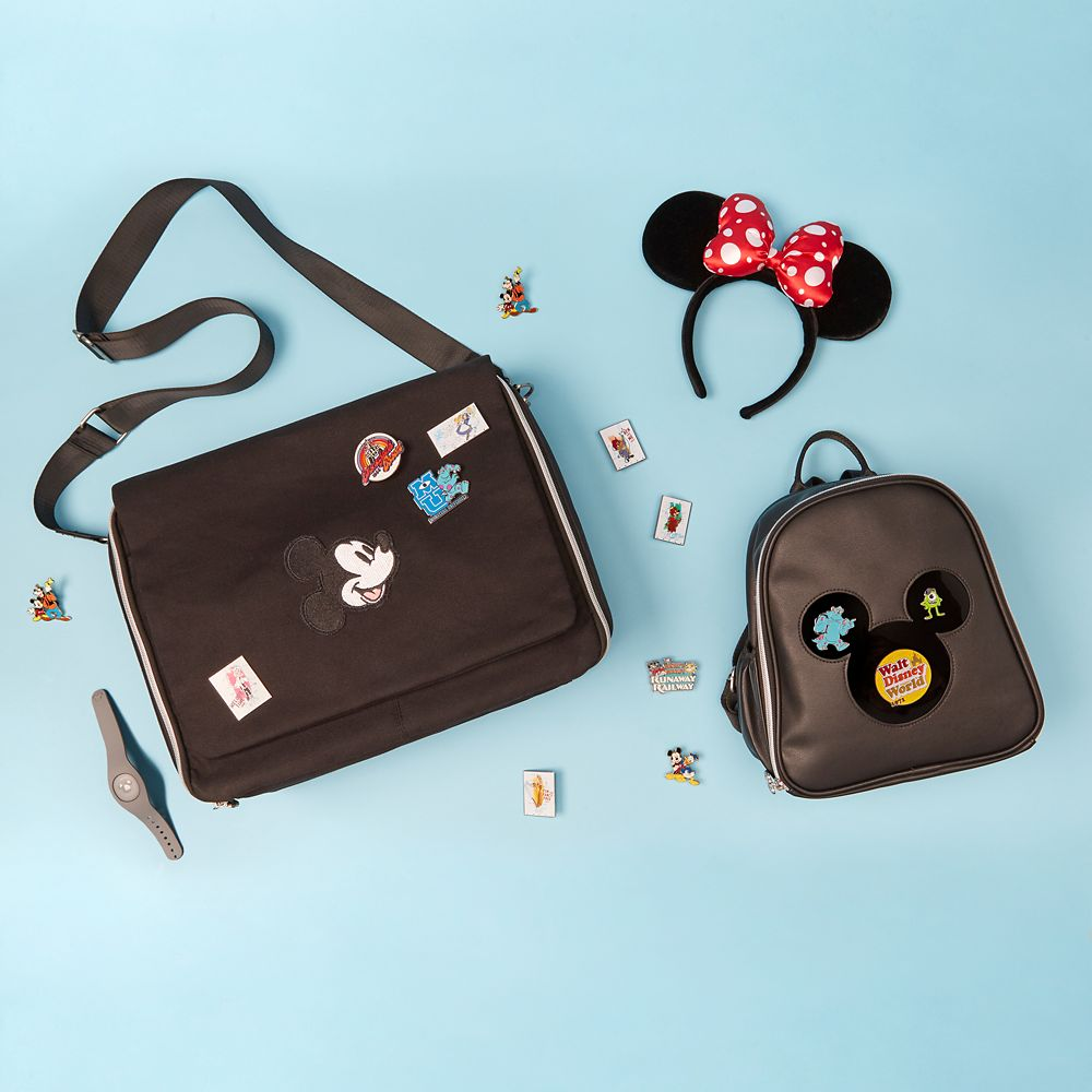 Mickey Mouse Pin Trading Messenger Bag