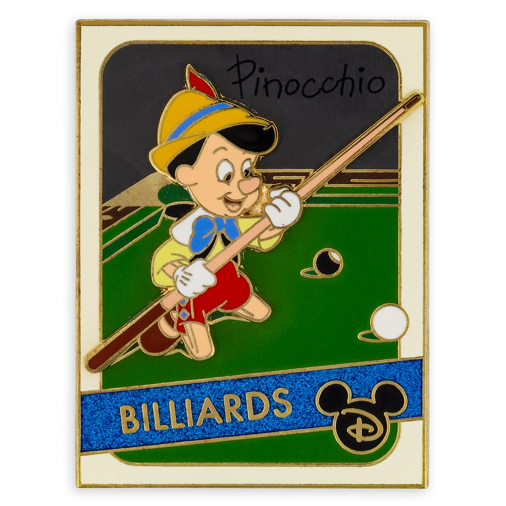 Pinocchio Pin – Trading Cards: Billiards – Limited Edition
