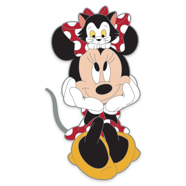 Minnie Mouse and Figaro Pin
