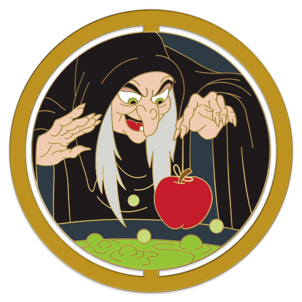 Evil Queen as Hag Spinner Pin – Snow White and the Seven Dwarfs – Enchanted Emblems – Pin of the Month – Limited Edition