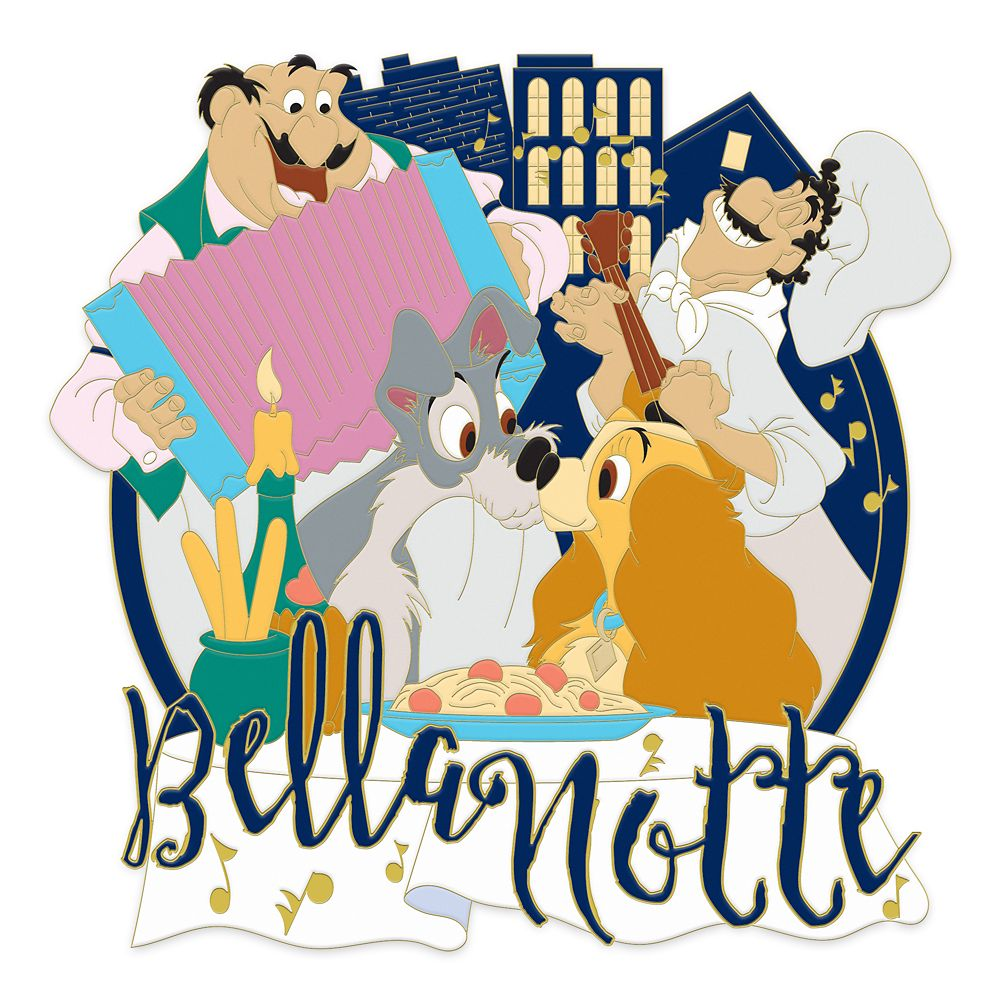 Lady and the Tramp ''Bella Notte'' Jumbo Pin – Limited Edition