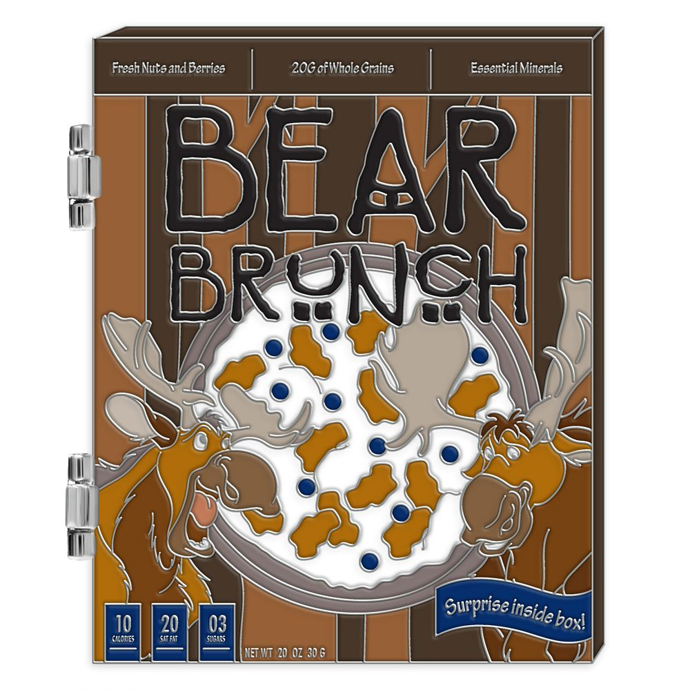Rutt and Tuke Cereal Box Pin – Brother Bear – Pin of the Month – Limited Edition