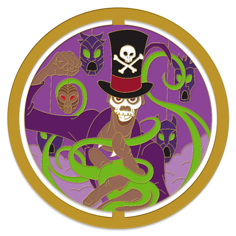 Doctor Facilier Spinner Pin The Princess And The Frog