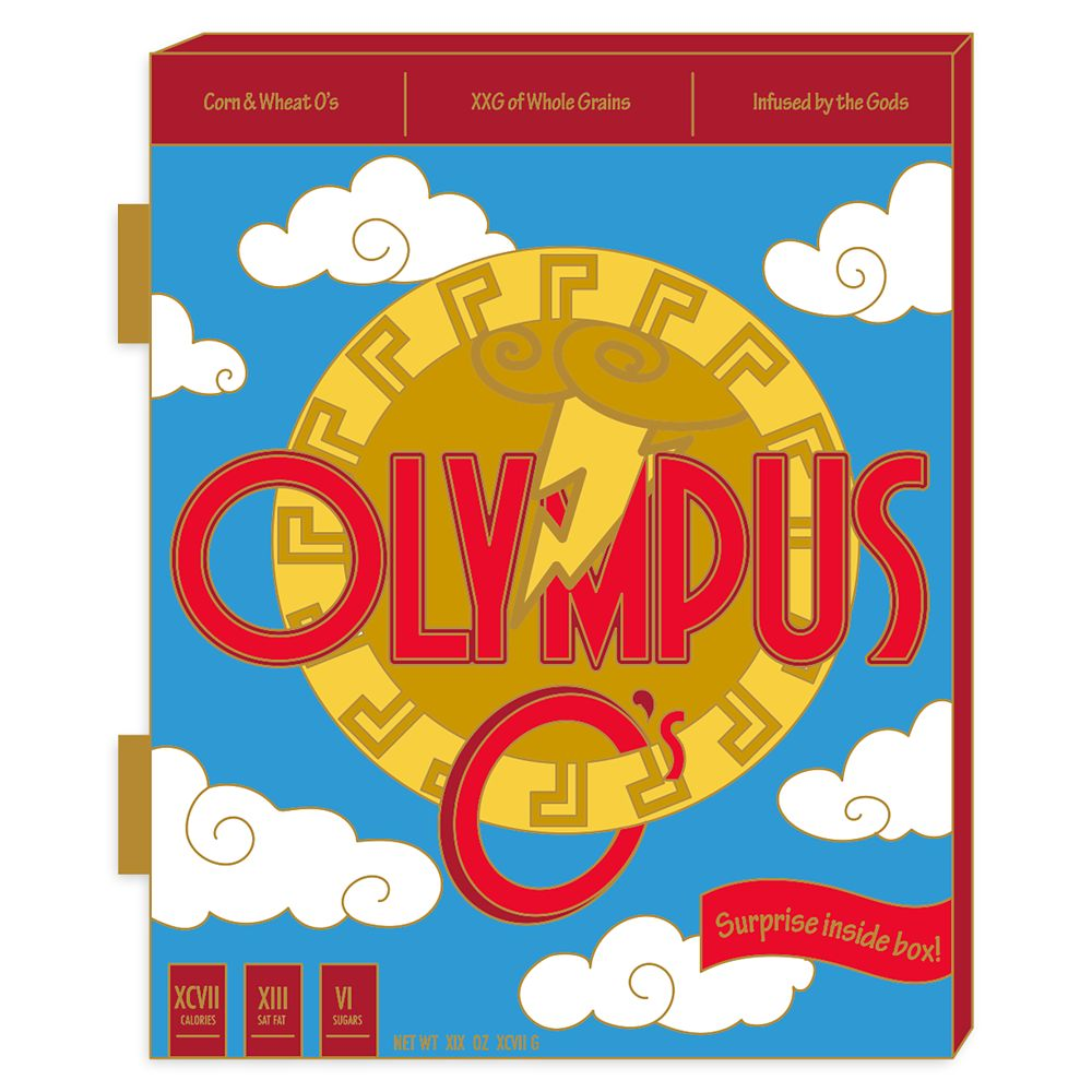 Hercules Pin – Cereal Boxes: Olympus – Limited Edition