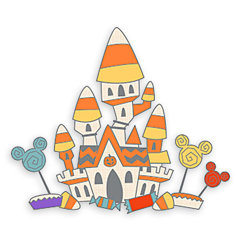 Candy Corn Castle Halloween Pin