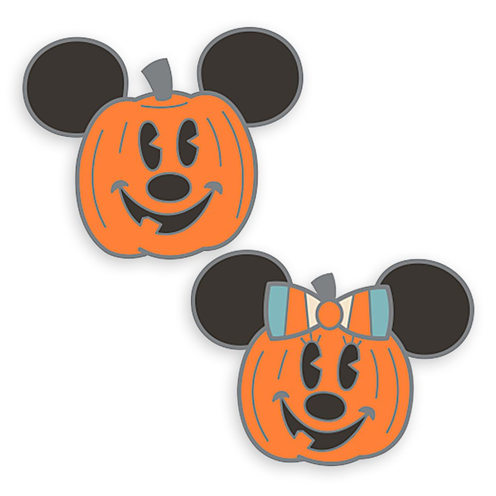 Mickey and Minnie Mouse Halloween Pin Set